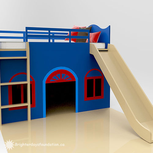 Custom bunk bed with slide